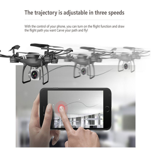 Mini RC Drone With Camera HD 4-Axis Aircraft Wide-angle 2MP 5MP WiFi Camera Real Time Video RC Quadcopter Drone KY101 For 4