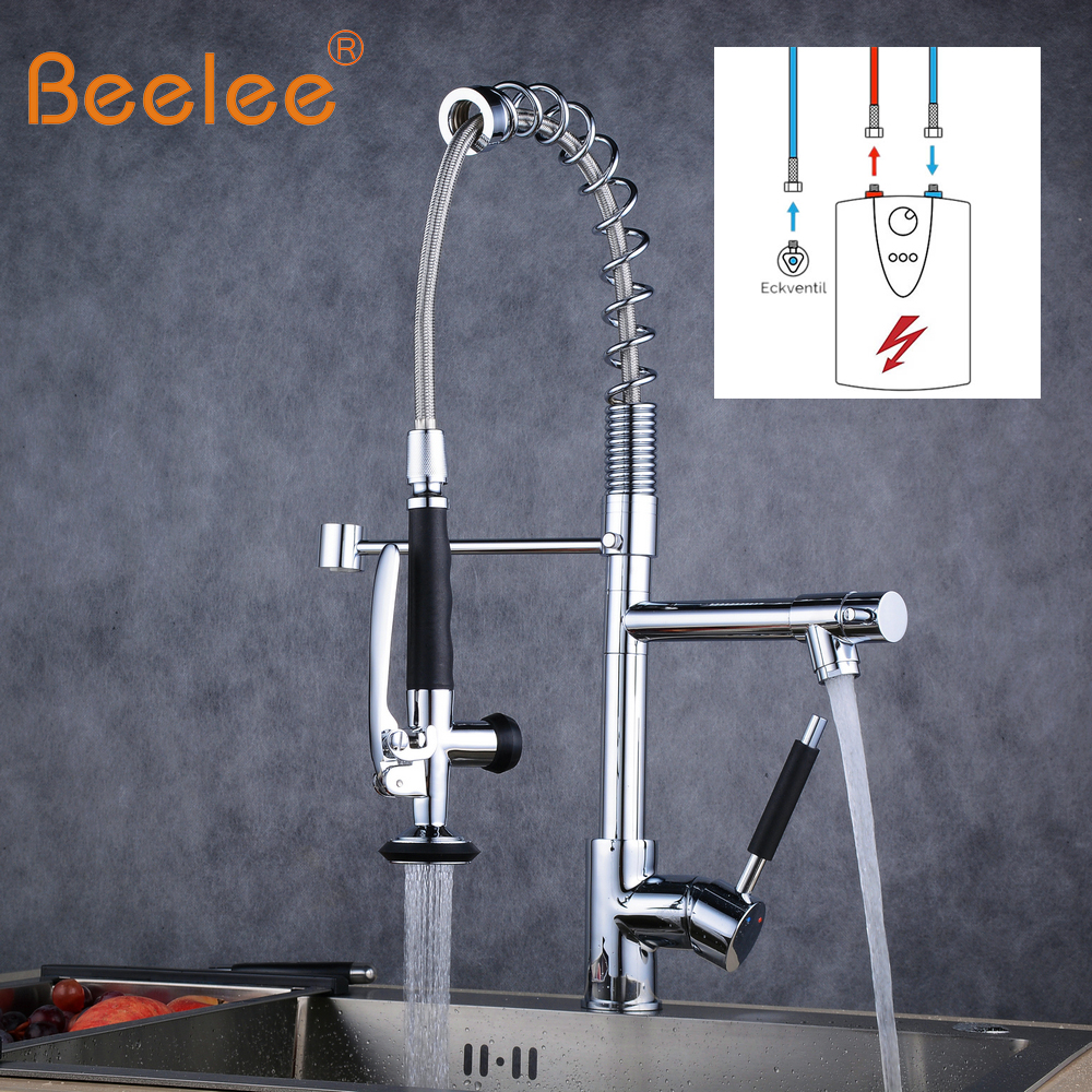 low pressure kitchen faucet beelee low pressure kitchen mixer faucet pull down sprayer 360 degree rotatable chrome grifo 3232