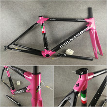 Good quality T1000 3K Glossy Light Pink Black Colnago C60 carbon road frame bicycle Frameset with XS/S/M/L/XL for selection(China)