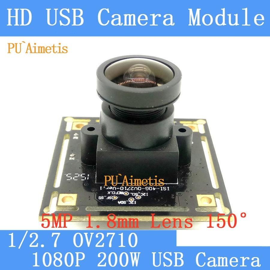 PU Aimetis 30fps 2MP Surveillance camera 1080P MJPEG High Speed OV2710 Mini CCTV Android Linux UVC