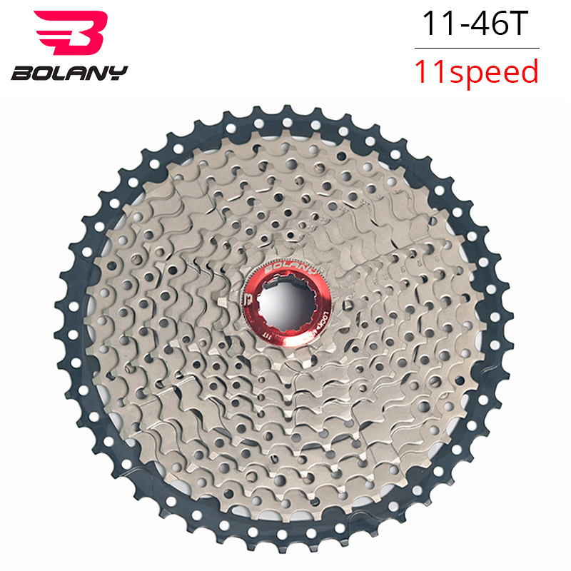BOLANY 11 46T Cassette 11S Speed MTB Bike Freewheel Flywheel Bicycle Gear Cassete 11S Velocidade Sprockets
