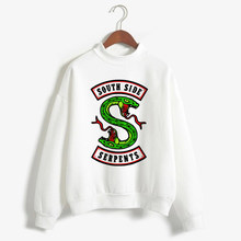 South Side Serpents Riverdale Print Hoodie Sweatshirts SouthSide Warm Pullover Turtleneck Groot Tracksuit Harajuku Clothes Tops(China)