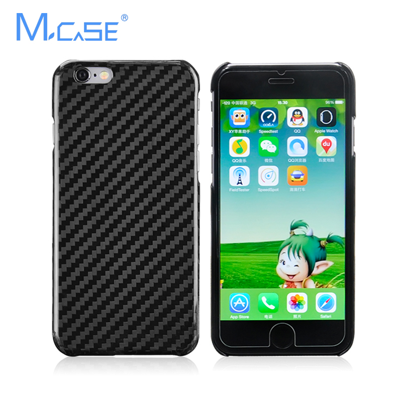 Mcase 0.7mm Ultra Thin 100% Real Carbon Fiber Case para iPhone 6, - Accesorios y repuestos para celulares