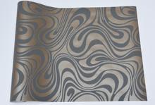 High Quality Modern Luxury 3D wallpaper roll, Mural Flocking for striped wallpaper