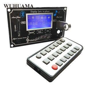 Image 1 - Czarny tekst pokaż LCD pojemnościowy ekran dotykowy pilot zdalnego SD MP3 odtwarzacz IR moduł kontrolera USB WMA WVA FLAC LRC Bluetooth radio