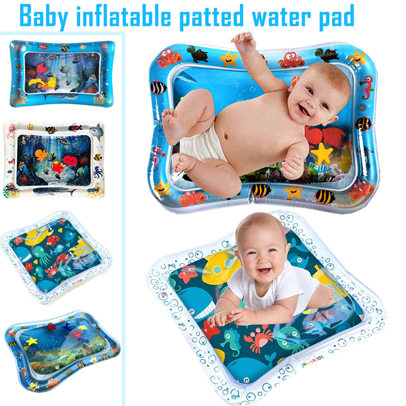 1 Pcs Creative Dual Use Toys Baby Inflatable Patted Pad Water Mat Patted Play Pad Cushion Toys Early Education NSV775
