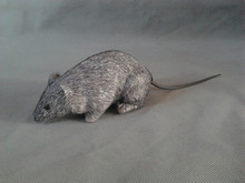 Halloween Practical Jokes toy simulation gray mouse polyethylene & furs 15x7cm mouse model ,playing a trick funny toy gift t316