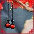 women ethnic earrings fashion red coral earrings,newchinese wind  vintage dangle earrings long