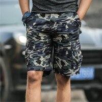 2017 Summer New Mens Fashion Casual Shorts 100 Cotton Camouflage Cargo Shorts Exercise Men Homme Exercise