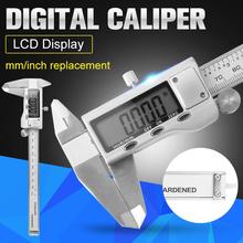 Best price 0-150mm/6 inch Electronic Digital Vernier Caliper LCD Diaplay Intelligent Replaceable Micrometer Measuring Tool Manual Tools