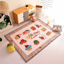Infant Crawling Mat Nordic Cartoon Children Play Comfortable Breathable Cotton Toddler Carpet Bedroom Decoration Rug