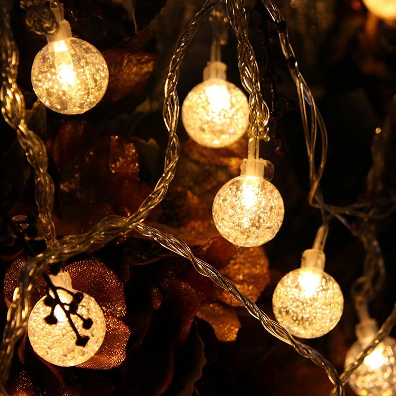 10M 50LED Globe String Light Crystal Bubble Balls Жатын - Мерекелік жарықтандыру - фото 3