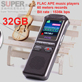 bit rate 1536kbps audio recorder 60m voice recorder 32GB time stamp+voice activate+password digital recorder APE FLAC player