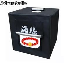40CM LED Photo Studio Light Tent, Shooting Cube, Portable Mini Photo Studio Kit Led Studio box 2 light bar 5500K  CD50