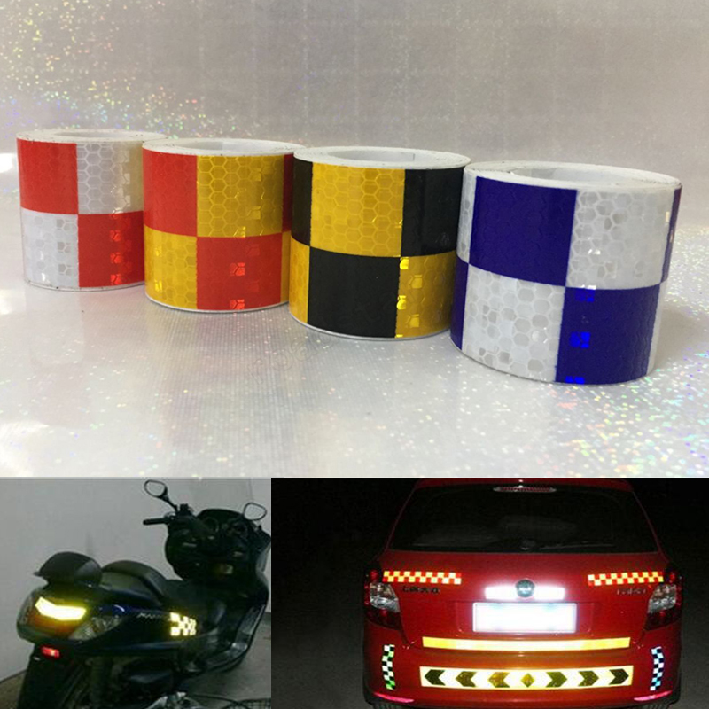 5cm X 5m  Car Decoration Motorcycle Reflective Tape Stickers Styling For Automobiles Safe Material Safety Warning Tape