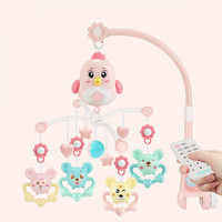 Baby Bed Bell Musical Toys for 0 12 Months Newborn Kids Gift Baby Rattles Projection Cartoon Early Learning Kids Toys no battery