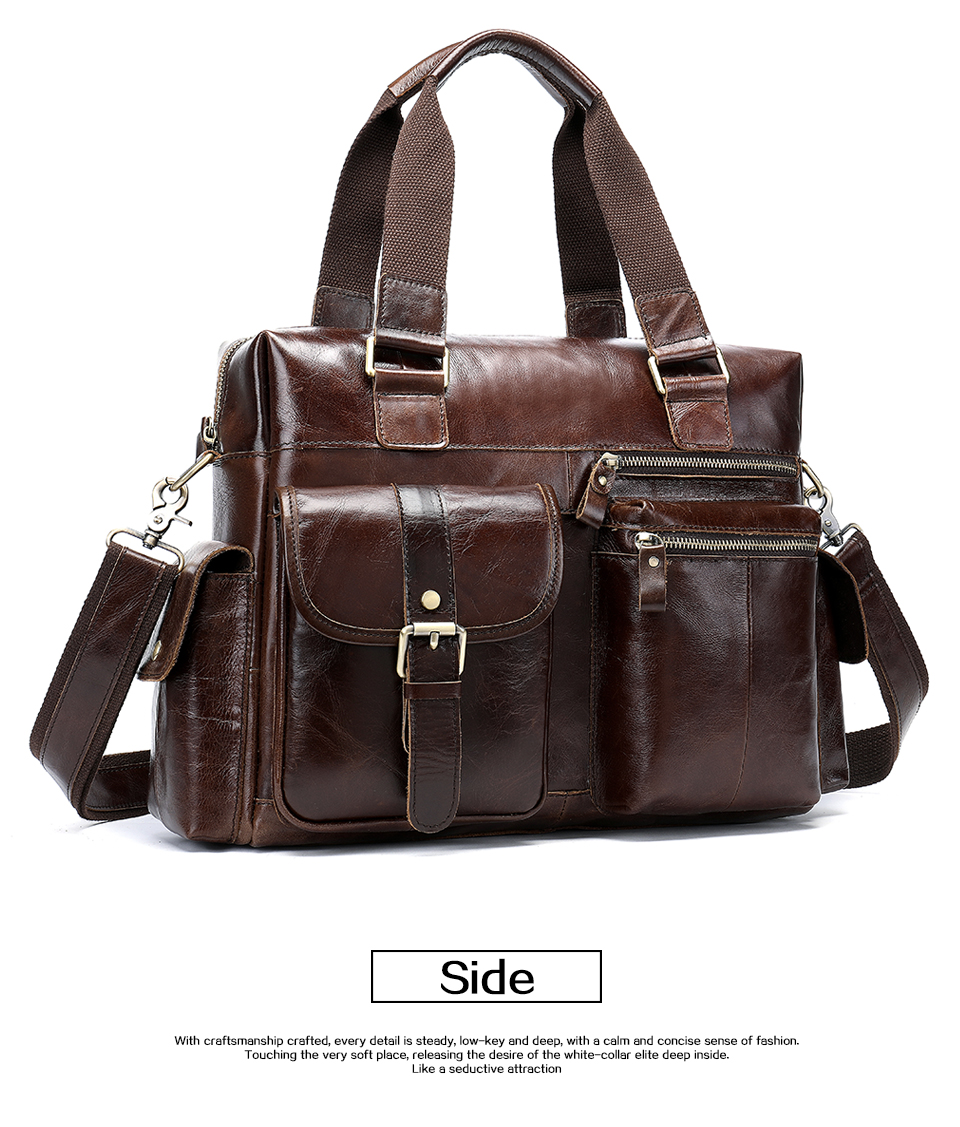 men's briefcase leather shoulder bag