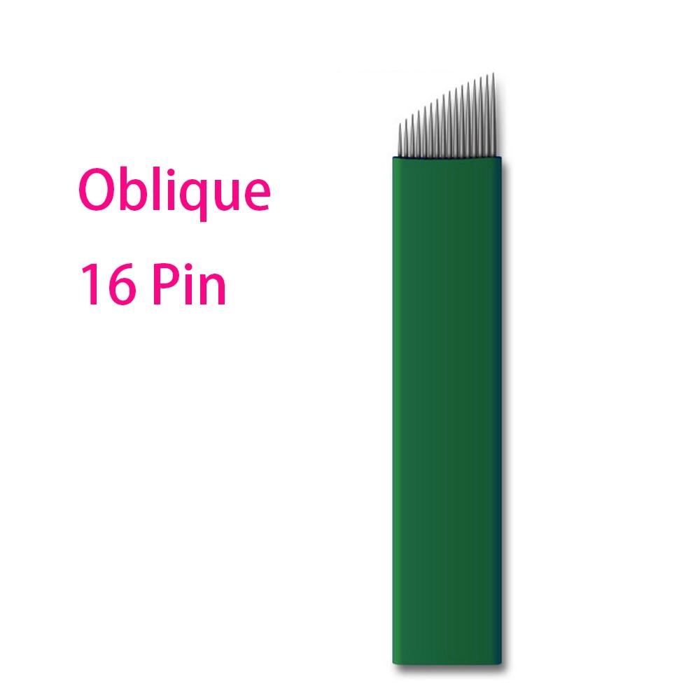 இEnvío libre 50 unids 0.18 oblicua 16 pin aguja ceja cosmética ...