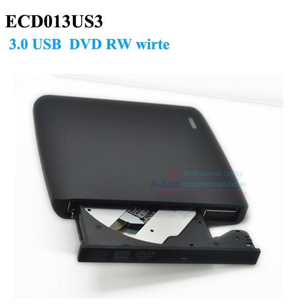 USB3.0 Driver de dvd rw Gravador de DVD Externo Para laptop PC suporte DVD escrever e ler ECD013US3 suporte 12.7mm Motorista