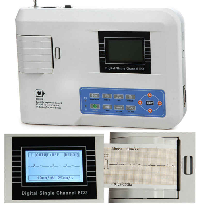 CONTEC FDA CE ECG100G Single Channel ECG EKG ECG EKG Machine with printer paper