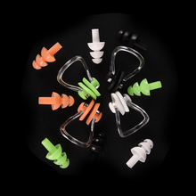 1 Set Silicone Swimming Earplug Nose Clip Watertight Set Sports Fitness Swimming Pool Accessories Nasal Splint Ear Plug 2 set waterproof soft silicone swimming set nose clip ear plug earplug travel sleep prevent noise tool selection of color