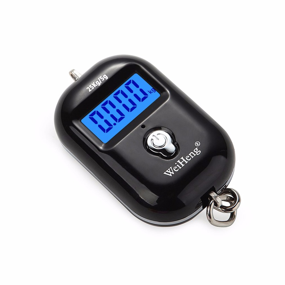 25Kg/5g Digital Hanging Scale LCD Backlight Mini Pocket Scales Electronic Luggage Weight Hook Scale Kitchen Tool Hot New