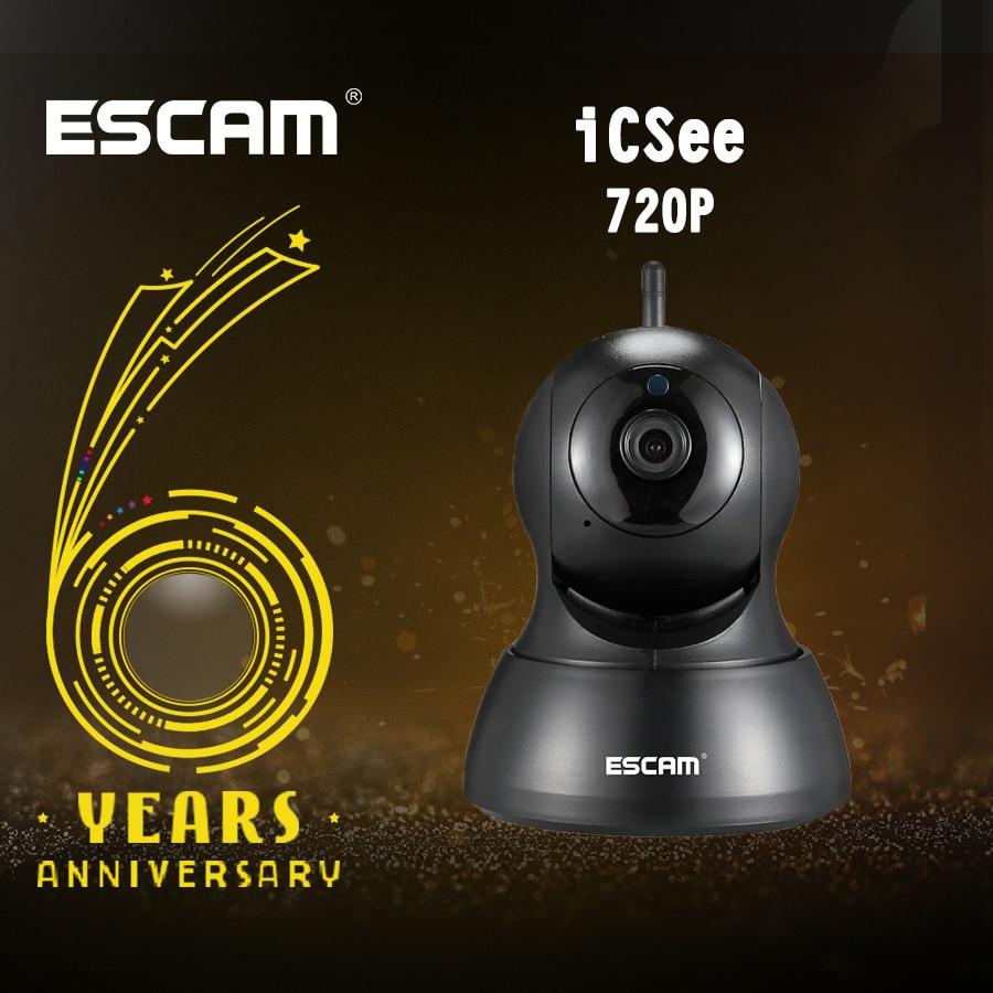 Escam QF007  Mini Home Camera 720P WiFi IR Alarm Pan/Tilt IP camera Black/WhiteEscam QF007  Mini Home Camera 720P WiFi IR Alarm Pan/Tilt IP camera Black/White