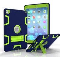 Para o iPad de Ar 2 Caso Híbrido Robusto de Borracha Dura Plástico + capa de Silicone de Alta impacto À Prova de Choque Da Tampa Do Caso Para O iPad de Ar 2 iPad 6 Caso