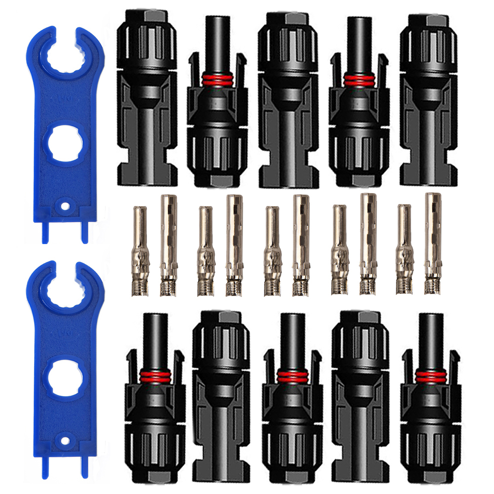 5pairs x MC4 Connector male female 30A 1000V with 1pair MC4 Spanner Solar Panel branch series Connect solar system5pairs x MC4 Connector male female 30A 1000V with 1pair MC4 Spanner Solar Panel branch series Connect solar system