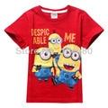 Fashion Summer Despicable Me Short Sleeve Baby  boys T Shirt Cartoon Print Kids Children Clothes Tees Tops boys T shirts