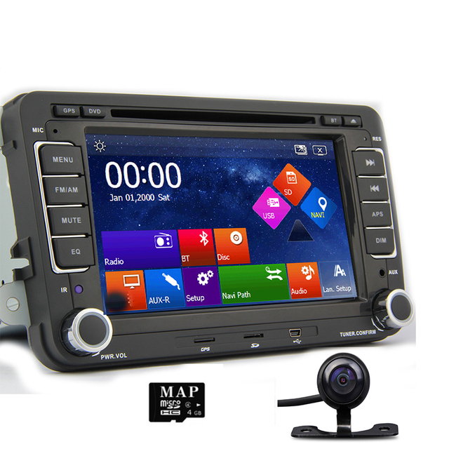 "7"" 2 din car dvd gps radio player for volkswagen vw golf 4 golf 5 6"