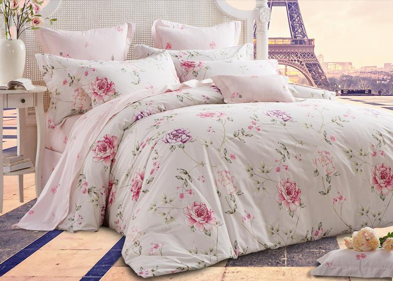 Romantic American Country Style Girls Vintage Floral Bedding Set