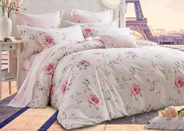 Beau Romantic American Country Style Girls Vintage Floral Bedding Set Elegant  Girls Bedding Set Full Size Designer