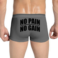 Sale Fashion Underwear Boxers Men No Pain No Gain Sexy Gay Shorts Boxer Homme Men S