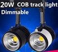 1PCS/lot LED Track Light 20W Dimmable Rail Lights Spotlight Bridgelux 110-120lm/W Halogen Lamp Modern Lighting 85-265V