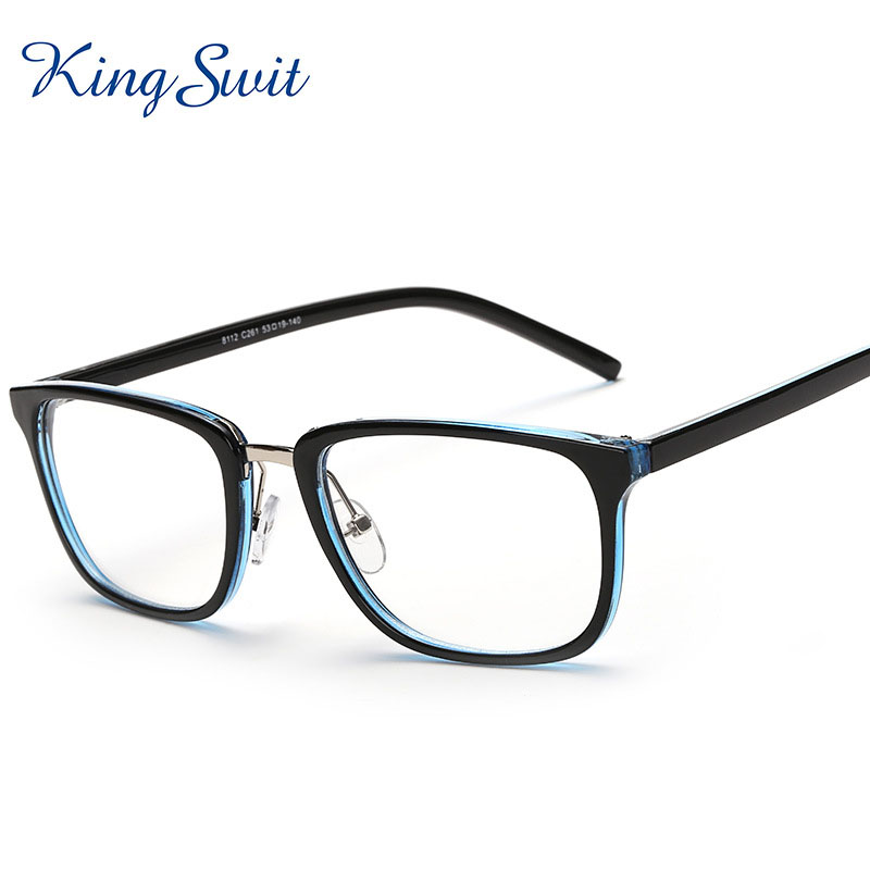 Ladies Blue Frame Glasses : KingSwit 2016 Brand Designer Rectangle Eyeglasses Men ...