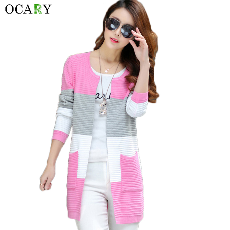 Elegant Women Sweaters Spring Summer Thin Cardigans Knitted Long Cardigan Cotton Haut Femme Ete  Blusas Gilet  Size XL