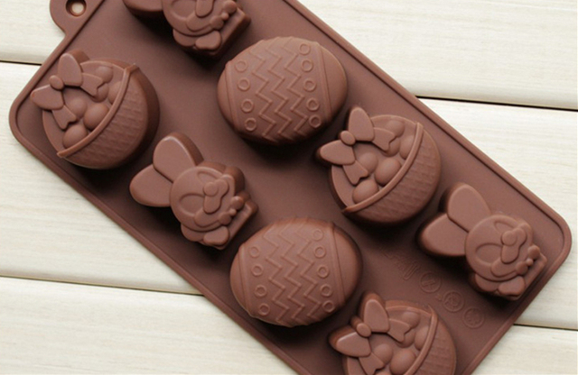 Easter Bunny Easter Egg Silicone Chocolate Mold