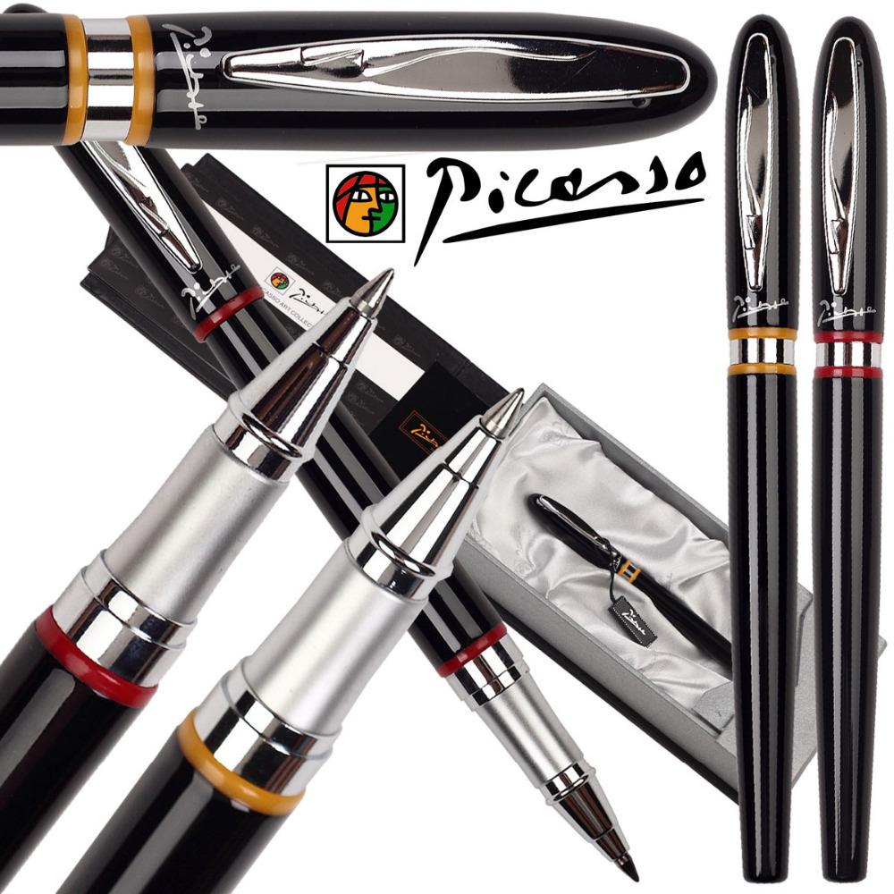 Fountain pen or RollerBall Pen   Picasso 907 shcool and office stationery   pen ink bottle and refill Free Shipping 8pcs lot wholesale fountain pen black m 14 k solid gold nib or rollerball pen picasso 89 big executive stationery free shipping