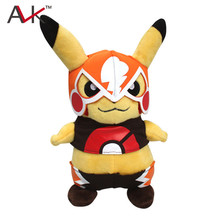 22cm Kawaii Mask Pikachu Plush kids Toys Classic PP Cotton Stuffed Animals Dolls Children