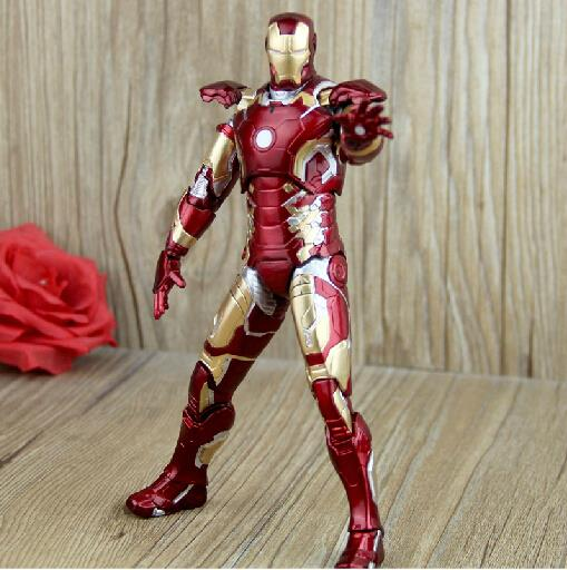 Marvel Iron Man Mark 43 PVC Action Figure Collectible Model Toy 7 18cm KT027 marvel select captain america the winter soldier pvc action figure collectible model toy 7 18cm 2 styles