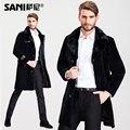 2016 winter jacket men Fur Coat for men Natural Genuine Sheepskin Russian winter Fur Coats Mink fur collar  natural fur coats