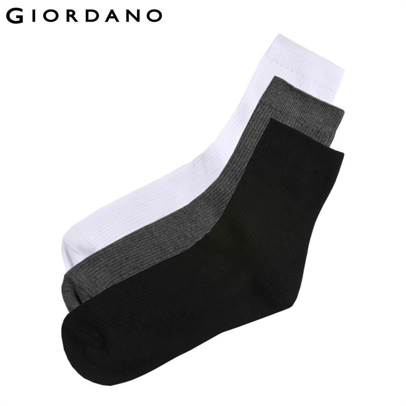 Giordano Homens Meias 3 Pares-Pacote Básico Meias Meias De Algodão Puro para Os Homens Calcetines Hombre Macio Respirável Meia Masculina de Marca
