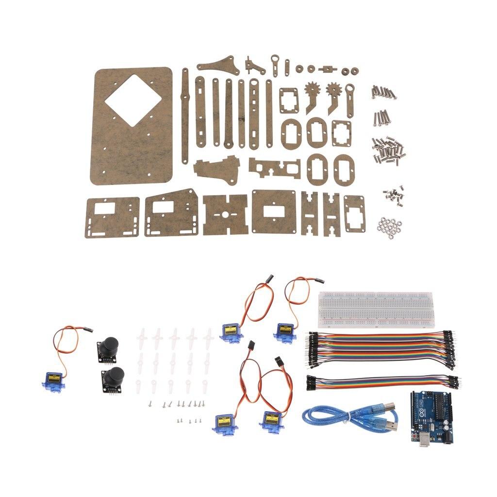 Bricolage de Montage Intelligent bras robotisé Modèle Électronique L'apprentissage des Sciences jouets éducatifs cadeau d'anniversaire pour Enfants Enfants En Bas Âge