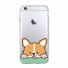 Cute Corgi Butt Animal Puppy Soft Clear Phone Case