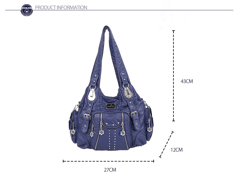 5bb6679f45 Angel Kiss Top-handle Bag Lady Casual Crossbody Shoulder Handbag ...