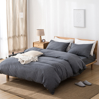 Klonca luxury bedding set cotton flat and fitted sheet summer bedding nordic style comfortable bed set