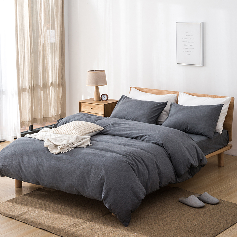 Klonca luxury bedding set cotton flat and fitted sheet summer bedding nordic style comfortable  bed set-in Bedding Sets from Home & Garden    1