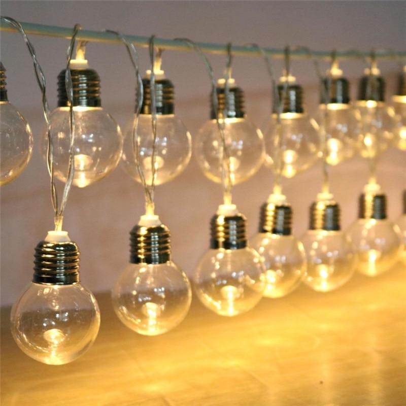 Image 3 - 20 led wedding string fairy lights bulb LED globe battery and USB style led fairy string light for outdoor garden garland-in LED String from Lights & Lighting on