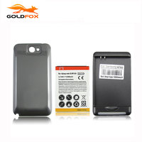 High Capacity 6500mAh Extended Replacement Phone Battery For Samsung Galaxy Note 2 II N7100 With Back
